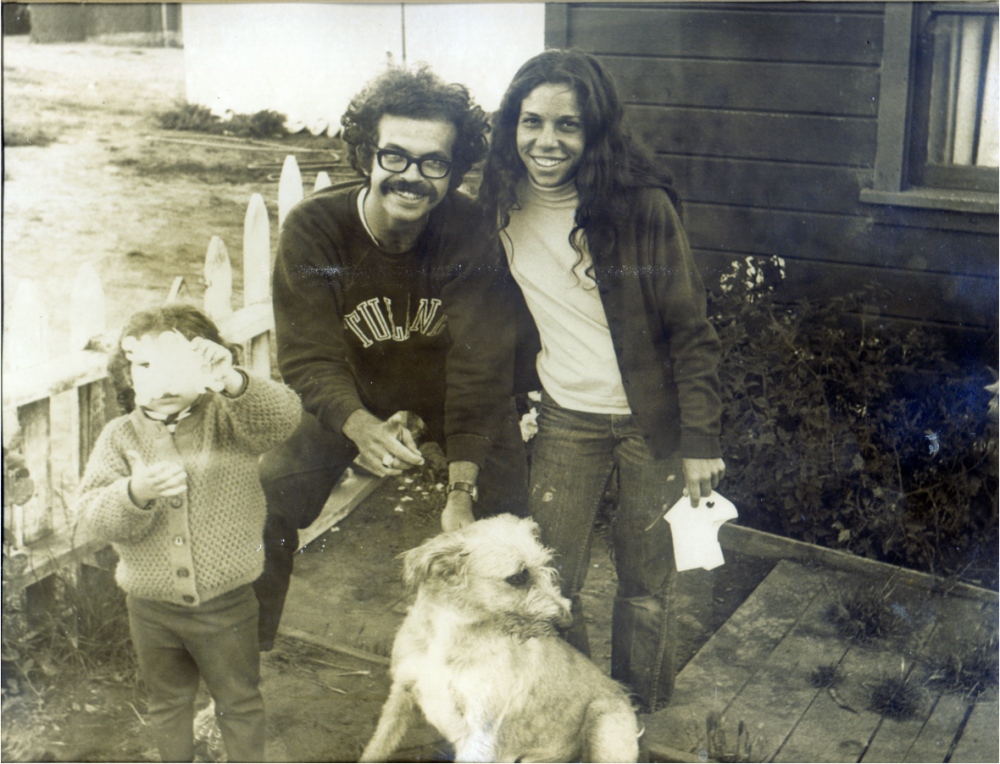 Armand Kuris with his wife, daughter and dog around the time of his Pacific coast expedition.