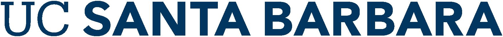 UC Santa Barbara Primary Wordmark in navy