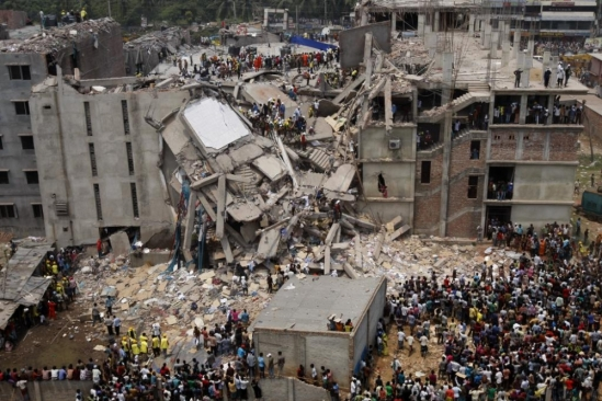 photo of Rana Plaza collapse