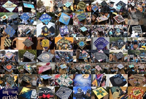 Mosaic of Commencement 2014 Mortarboards