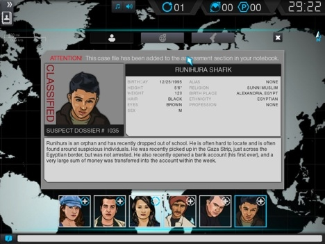 A screenshot of the MACBETH deception detection game