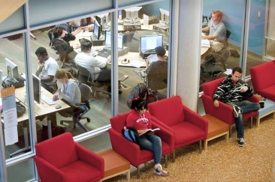 UCSB students studying