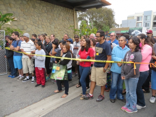 Shoppers wait to enter 2014 GIVE sale