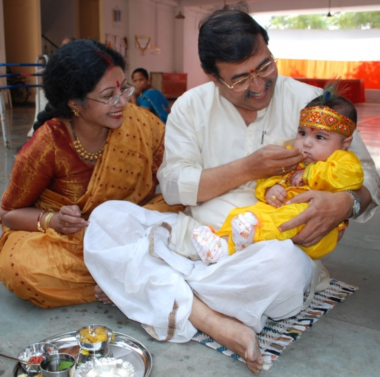 Indian baby eating