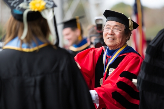UCSB Chancellor Henry T. Yang at Commencement