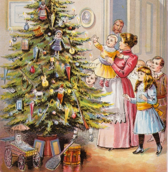 Christmas tree, 19th century