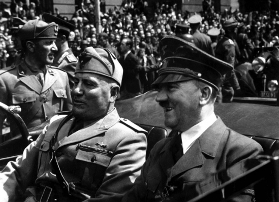 Brian J. Griffith, interwars period, hitler and mussolini
