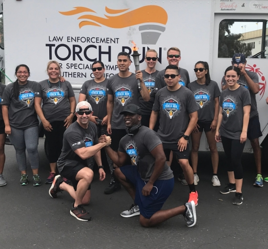 UCSB participates in the Law Enforcement Torch Run for Special Olympics