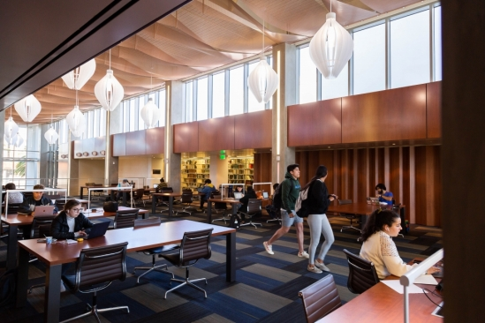 Inside UCSB Library