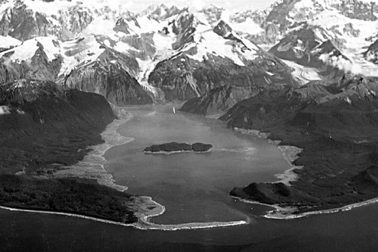 Lituya Bay, Alaska, where a landslide in 1958 caused one of the tallest tsunami waves known to science