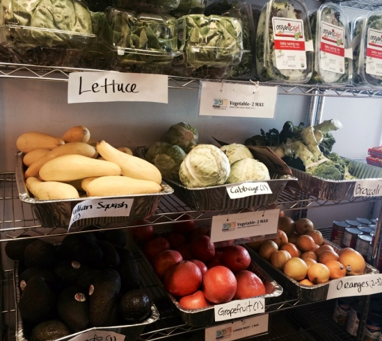 UCSB AS Food Bank produce shelves