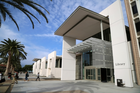 Exterior shot of UC Santa Barbara Library
