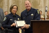 photo of police detective receiving Guerry Award
