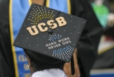 UCSB commencement mortar board