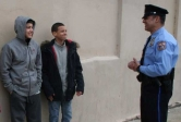 Latino youths police