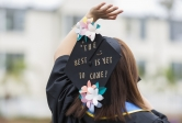 Mortarboard closeup UCSB Commencement 2017