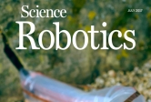 soft robot on Science Robotics cover