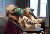 Residents at a senior living community engage with the VR