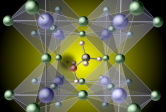 Illustration of hydrogen vacancy in a perovskite