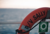 a life preserver on the research vessel Sally Ride