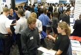 Hundreds of students and recruiters filled Corwin Pavilion on Tuesday for day one of the Fall Career Fair.