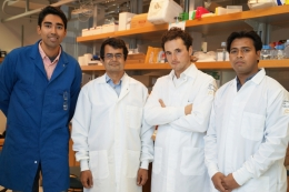 Photo of researchers of synthetic platelet-like nanoparticles
