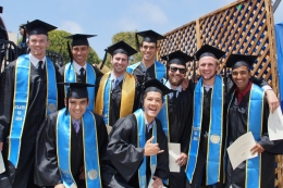 photo of the 2014 Mini Baja team at commencement