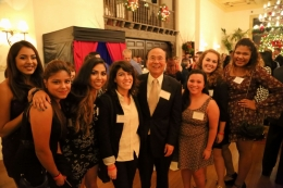 UCSB Regent Hadi Makarechian and his wife, Barbara, host the annual Guardian Scholars Holiday Party