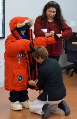 Harding first-grader dressed for Antarctica