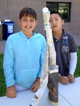Newspaper towers/UCSB Summer Science Camp
