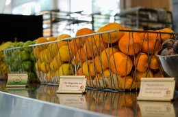 Organic fruit at UCSB De La Guerra Dining Commons