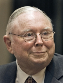 Charlie Munger, by AP Images