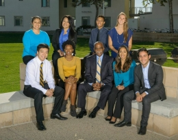 Michael Young with UCSB student leaders in 2012