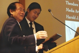 UCSB Chancellor Yang and Theodore Kim