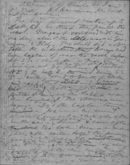 A page from Henry D. Thoreau's handwritten manuscript
