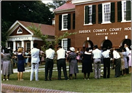 Sussex County Courthouse Virginia 1965
