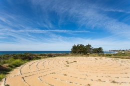 Labyrinth above UCSB Campus Point