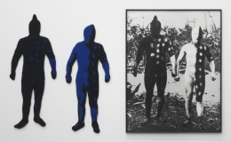 "Elaine Reichek, ""Blue Men"" (1986)"