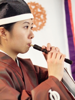 Gagaku, Japanese classical music dating to the 3rd and 4th centuries, comes to the MultiCultural Center Theater