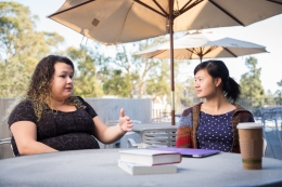 UCSB students in conversation