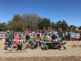 Edible Campus Student Farm workday group shot