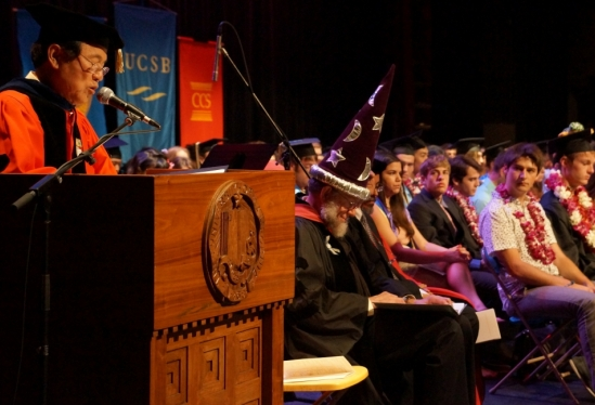 photo of Chancellor Yang at CCS 2014 commencement