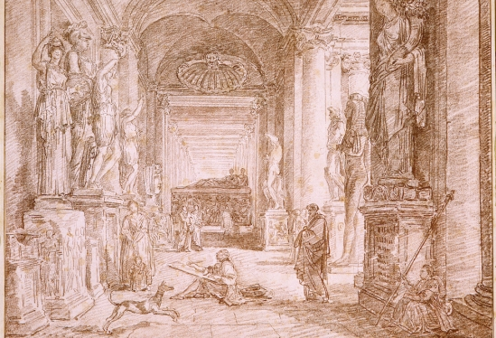 Hubert Robert, A Draftsman in the Capitoline Museum