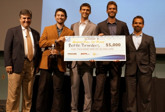 photo of first place winners in the NVC Market Pull category