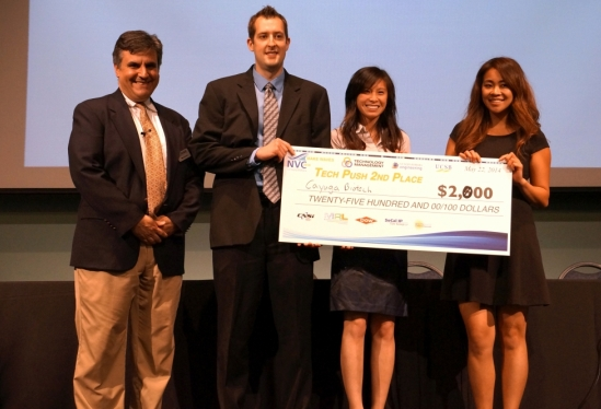 photo of one of two second place winners for the Tech Push awards