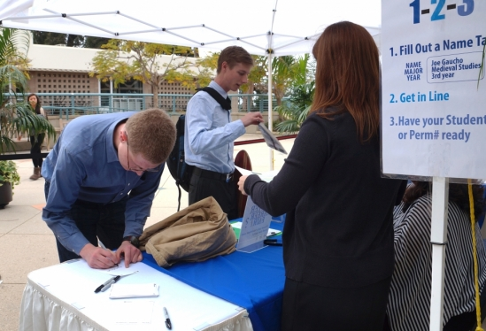 Job seekers at the 2014 Winter Career Fair