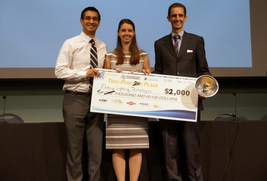photo of one of two second place winners in the Tech Push awards