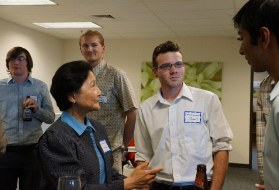photo of Dilling Yang at GEM open house