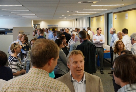 photo of crowd at Goleta Entrepreneurial Magnet open house