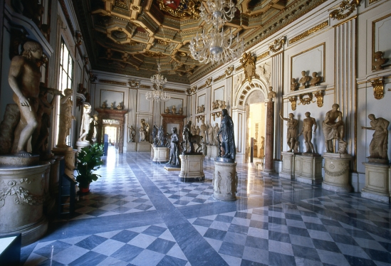 View of the Main Hall, Capitoline Museum, Rome